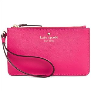 Kate spade New York hot pink wristlet